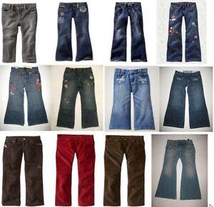 NEW Gap baby kid girl denim pants jeans boot cut skinny school 5 6