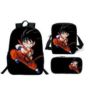 Boys Cartoon Anime Dragon Ball Z Super Saiyan Family Backpack Student School Bag