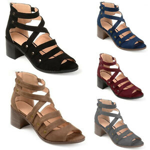 Womens-Sandals-Strappy-Gladiator-Flat-Summer-Holiday-Beach-Low-Heels-Rivet-Shoes