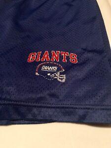 promo code d0bd4 6f79c Details about Vintage Rare Champion New York Giants Shorts Size XL (40-42)  NFL Football Blue