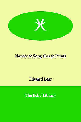 Nonsense Song, Lear, Edward, New Book