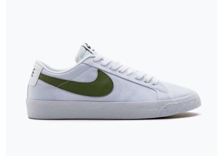 Nike sb blazer zoom basso cnvs tela scarpe da skateboard bianco 889053-130 taglia 10