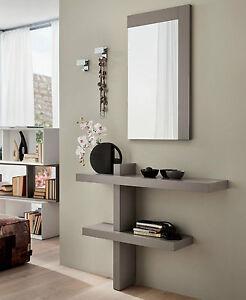 Mobile ingresso moderno consolle specchio pr sandy 110 cm design made italy ebay - Specchio ingresso moderno ...