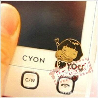 Korea Cartoon Anti-radiation 24k Gold-plated Mobile Phone Camera Stickers
