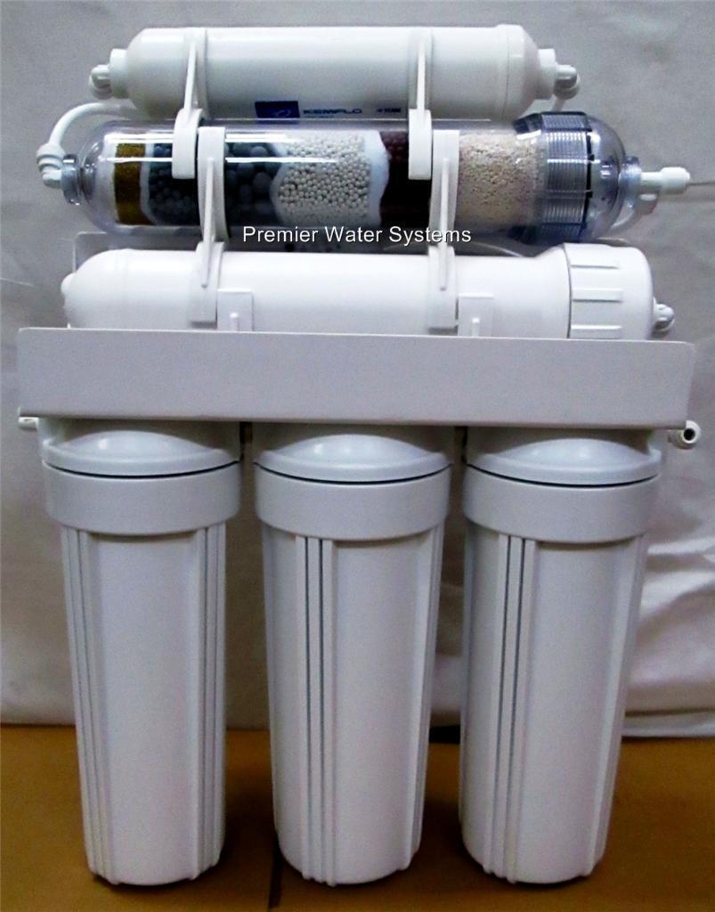 PREMIER 6 étape pH alcalin plus ORP Negative Osmose Inverse Système d'eau 50