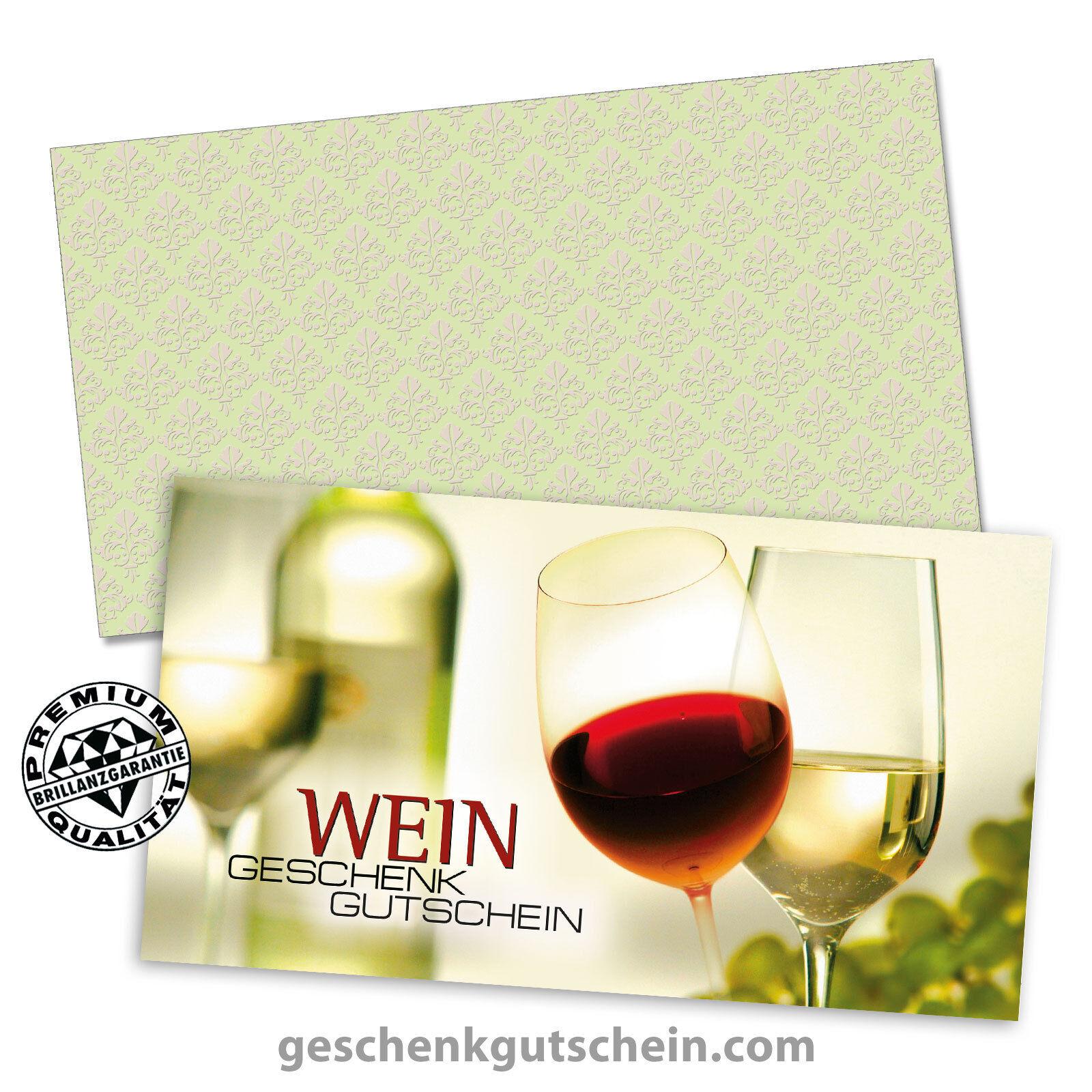 Gutscheinkarten  Standard  mit KuGrün für Weinhandel, Sommeliers W1203