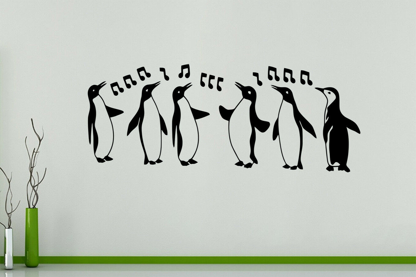 Singing Dancing Penguins Animals Birds Wall Art Decal Sticker Picture Poster
