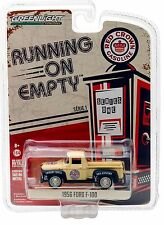 1:64 GreenLight *RUNNING ON EMPTY R1* RED CROWN = 1956 Ford F-100 Truck NIP!