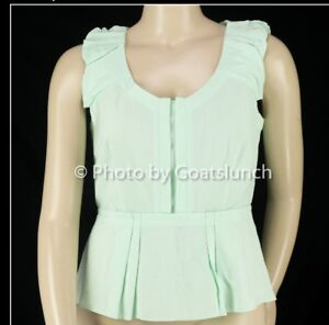 Veronika-Maine-Cue-Pastel-Green-Top-Size-14-Professional-Smart-Casual