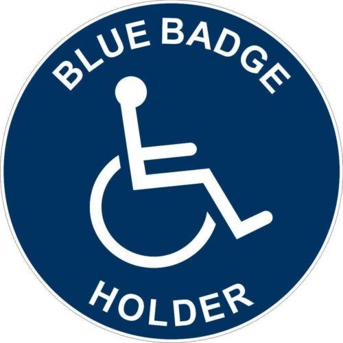 Blue badge holder handicap mobilité Autocollant Decal étiquette en vinyle graphique
