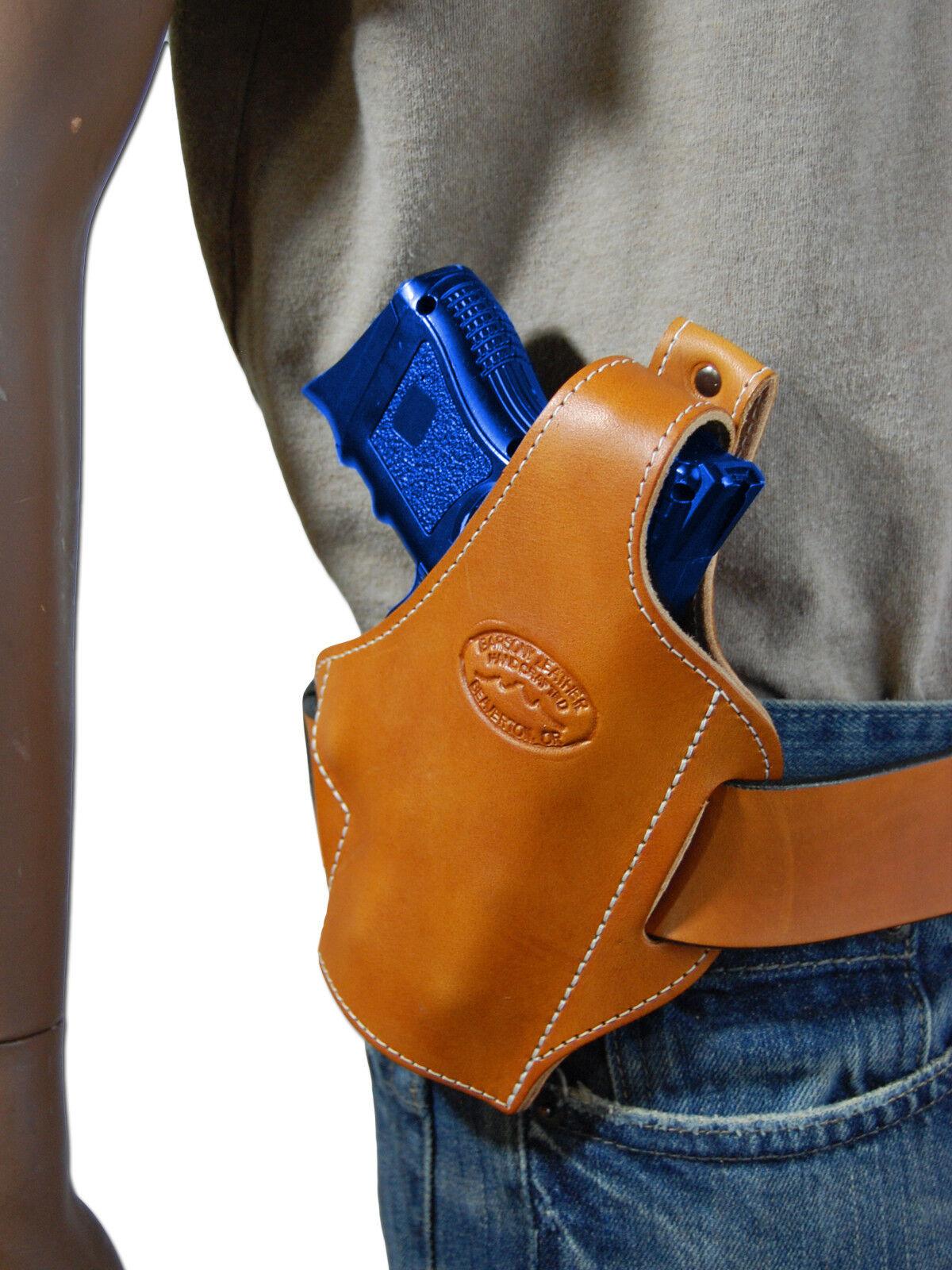 New Barsony Tan Leder Pancake Gun Holster for Colt, Kimber Kimber Colt, Compact 9mm 40 45 fd49ae