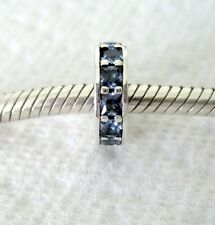 BLUE SKY CRYSTAL ETERNAL SPACER .925 Sterling Silver European Charm Bead