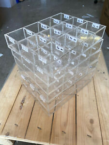 1 PC - Used Bead Box Storage tray - Acrylic Great quality craft box