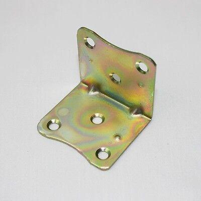 "10 pcs Brass 1.5"" Iron 38x38x43 mm Corner Angle Bracket Supports Hardware OM-43"