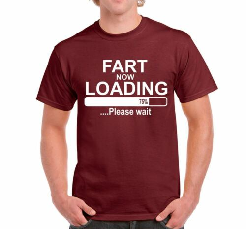 ALM786t-FART NOW LOADING Mens Funny Novelty Slogans tshirts Tops Birthday Gifts