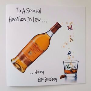 Image Is Loading Personalised 50th Birthday Card Whiskey 21st 30th 40th