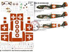 Peddinghaus 1/72 Messerschmitt Bf 109 Swiss Air Force Markings [Decal] 1106