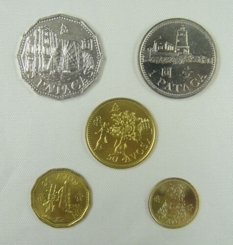 Before 1998 Macao Macau Coins Set of 5 Pieces UNC
