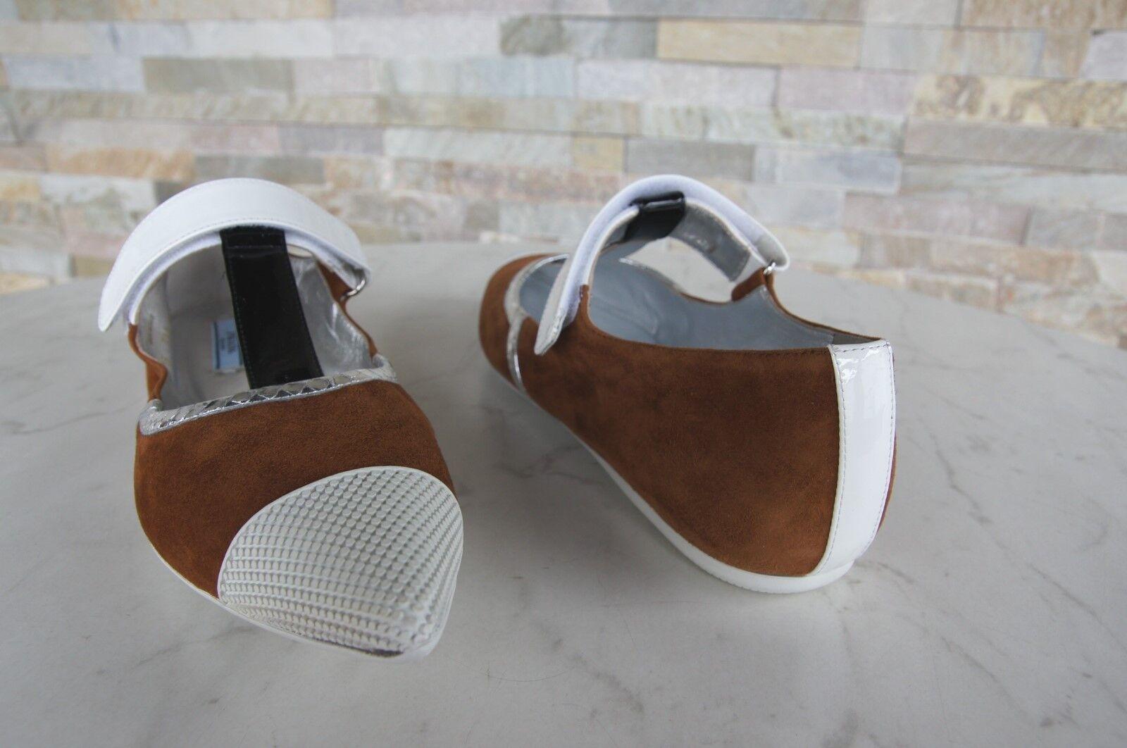 Prada Gr 40 Halbschuhe Ballerinas Slipper Schuhe Schuhe Schuhe braun weiss 1F738G neu 58cbf1