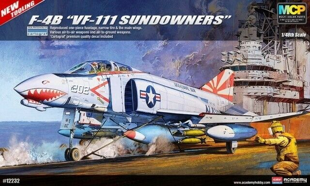 Academy 12232 USN F-4B 'VF-111 Sundowners' Aircraft Kit 1 48 Scale T48 Post