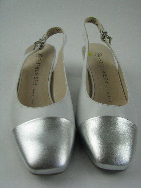 Último gran descuento Peter Kaiser GABRELE-PLUS  Damen Sandale creme/silber Leder Gr.37,5