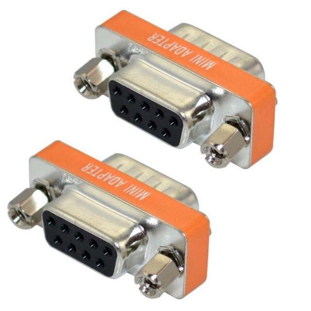 Mini Null Modem DB9 feMale to DB9 feMale plug Adapter Gender Changer SG