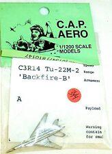 1 Flugzeug C3R14 Tu-22M-2 Backfire-BCAP Aero für Schiffsmodell 1:1200 SHP344 å √