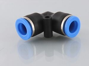 4mm Push in equal Elbow Connector for Pneumatics or Fluids               b92a