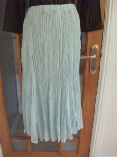 C Classics Mint Crinkle Effect Lined Skirt Size 12//14