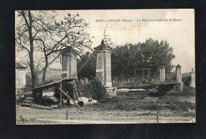 CPA-PORT-a-BINSON-Le-pont-suspendu-sur-la-Marne
