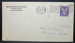 Democratic-State-Committee-Gardner-Hotel-US-Adv-Cover-Fargo-USA-Letter-H-6347