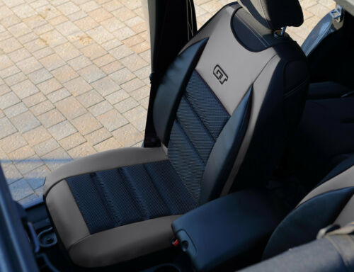 FRONT SEAT COVER MAT ARTIFICIAL LEATHER /& FABRIC FITS ISUZU D-MAX Mk2 2012-2020