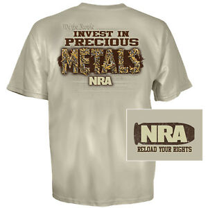 NRA Metals T-Shirt (L)- Sand