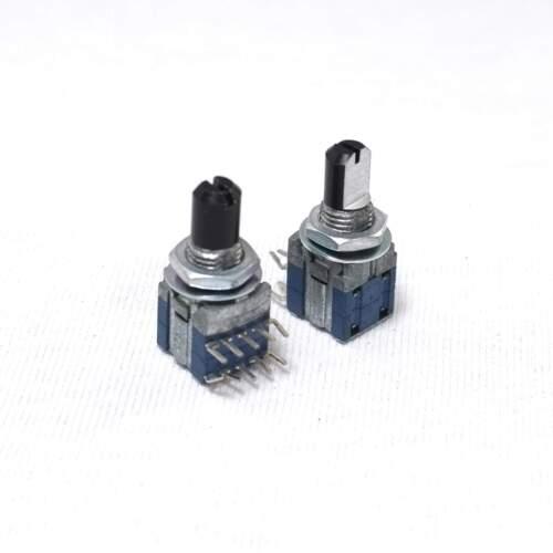 2 X 9 mm 2 polos 3 posición Alps 2P3T Interruptor Giratorio 13 mm D shaft PC Monte