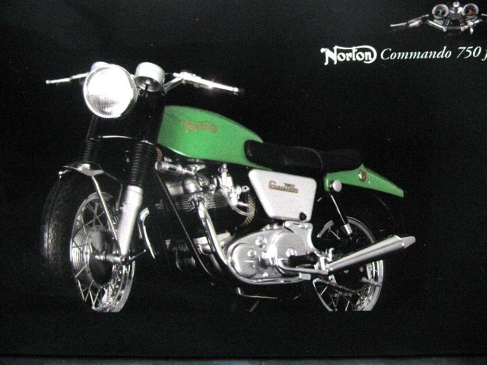 Wow extrêmement rare NORTON COMMANDO 750 Vintage 1968 vert CBS 2 1 12 Minichamps