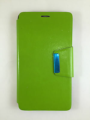 Bright Custodia Cover Orange Nura Alcatel M812 Chiusura Con Chiusura Magnete Verde To Enjoy High Reputation In The International Market Custodie E Copritastiera