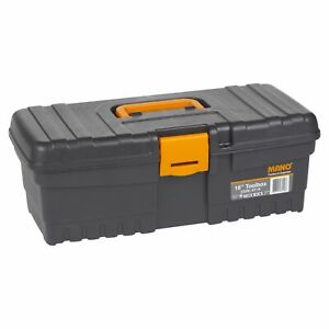 Details About 16 Large Plastic Heavy Duty Diy Tool Box Chest Lockable Storage 40x20x15cm