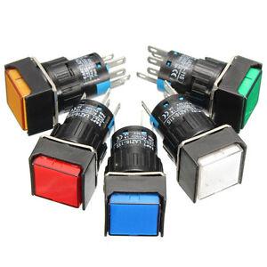 Square-micro-bDC-12V-Boton-Interruptor-Momentaneo-Bloqueo-LED-Cuadrado-luz