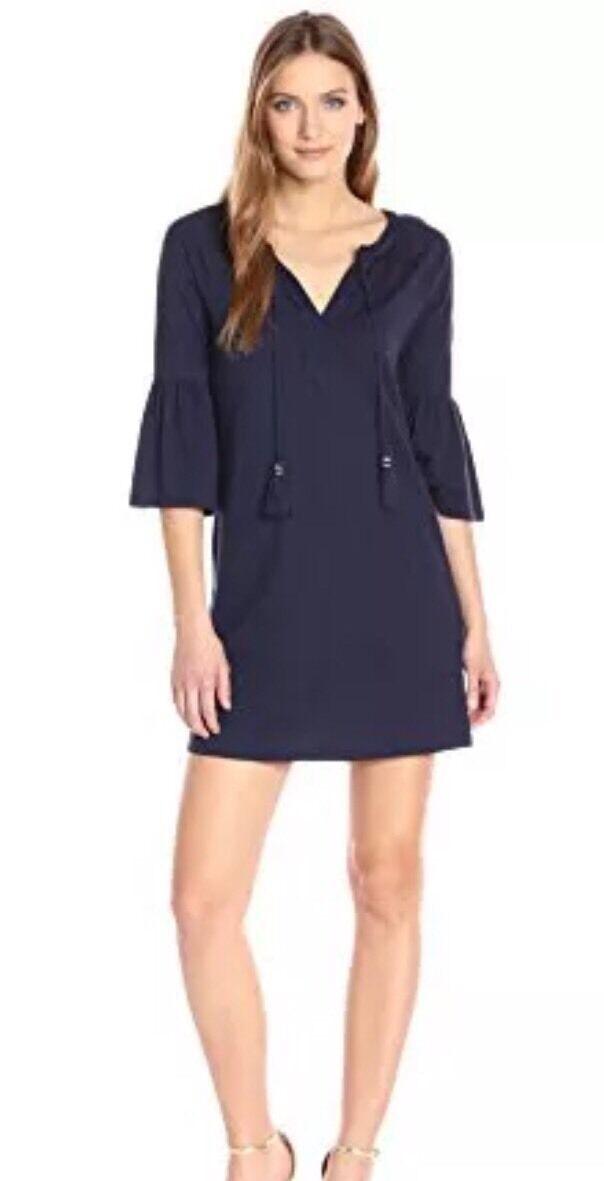 NWT Lilly Pulitzer True Navy Del Lago Tunic Dress Sz XS