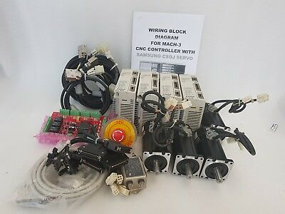 SAMSUNG 400W SERVO PACK,DRIVER MOTOR 4-AXIS CNC,ROUTER WORKING FREE SHIP