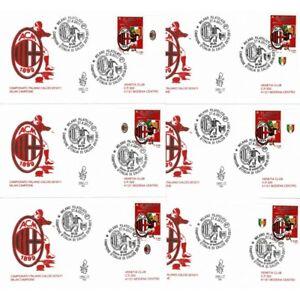 2011-FDC-Venetia-1662-It-Bis-Italy-Milan-Campione-Cup-Italy-Bands-6-Envelopes