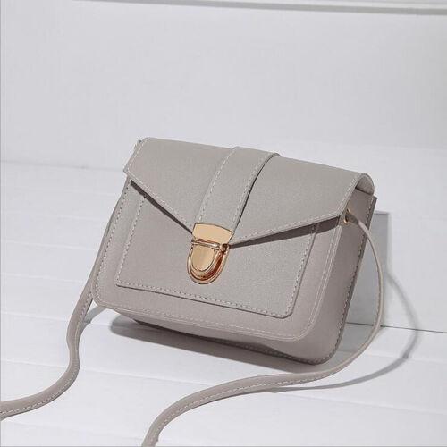 Women Mini PU Leather Shoulder Messenger Bag for Girl Yellow Ladies Phone Purse