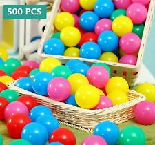 500 Plastic Balls for Bounce House or Ball Pit Crush Resistant Draw Mesh Bag