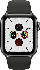 Apple Watch Series 5 GPS+Cellular 40mm Edelstahl Sportband Black Neuware