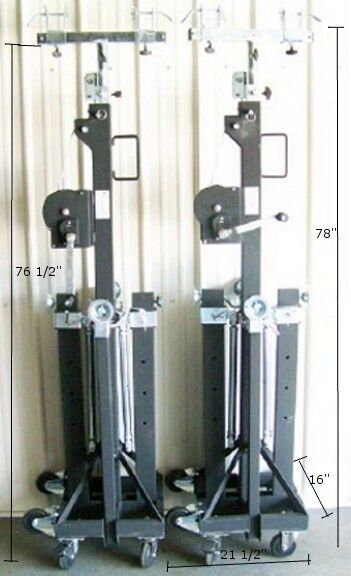 NEW! Pair Global Truss ST 157 Stands w/ Truss Adapters! Free US 48 State Ship!