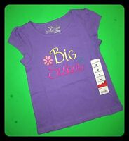 'new' big Sister Baby Girls Graphic Shirts 2t 3t 4t Gift Announcement Ss $14