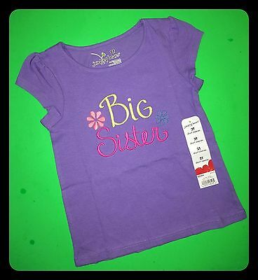 """Sibling SS Announcement ~NEW~ /""""BEST BIG SISTER/"""" Girls Shirts 2T 3T 4T 5T Gift"""