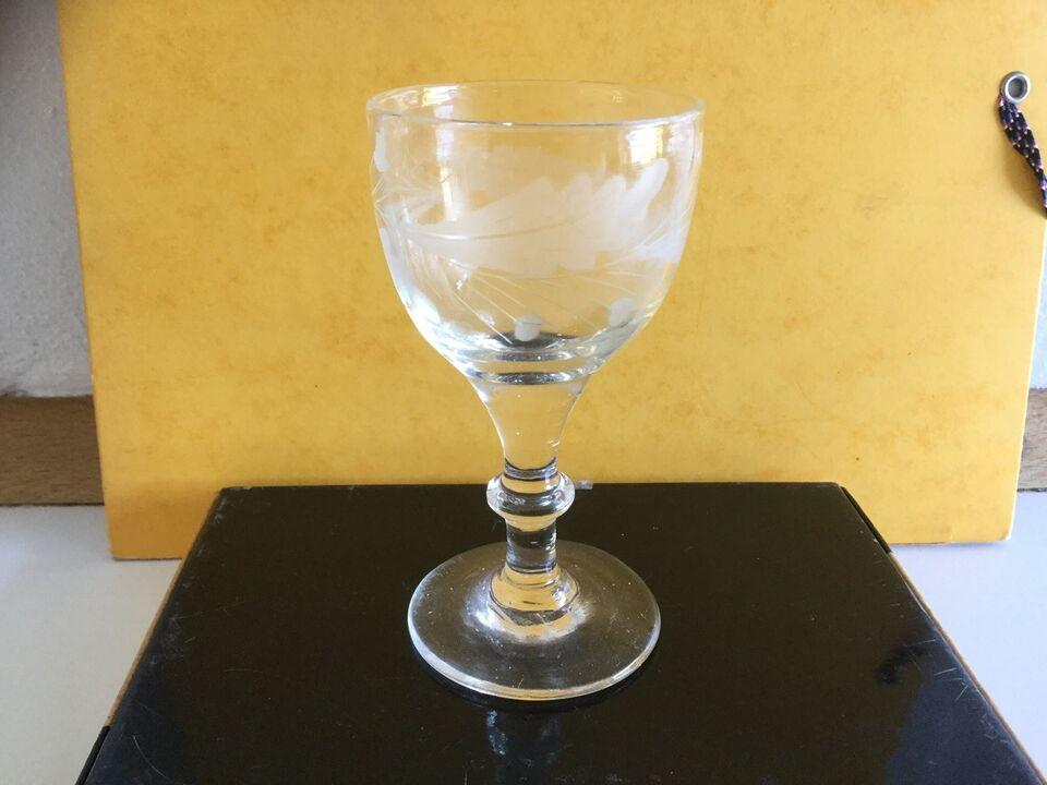 Glas, Egeløv Holmegård gammelt antik