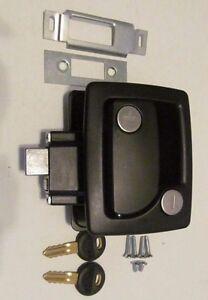 Details about TriMark 060-0251 BLACK RV Trailer Entry Door Latch Deadbolt  Handle Lock Keys Kit