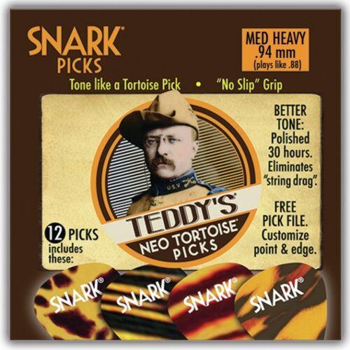 NEW 12 Pack Snark TEDDY/'S NEO Tortoise .94 MM MEDIUM heavy Guitar Picks 94NT